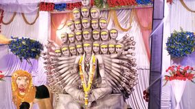 God image. God worship in hindu festival Royalty Free Stock Photo