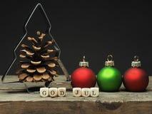 God Jul, Scandinavian Merry CVhristmas Stock Images