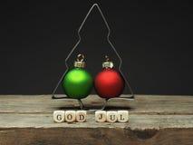 God Jul, Scandinavian Merry CVhristmas Stock Photography