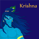 God Krishna character Stock Photo