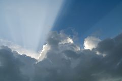 God light. Background of a sky Royalty Free Stock Images