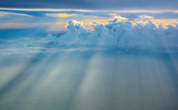 God light. Beautiful Sky when I was on the plane royalty free stock image
