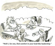 God-like Leadership Stock Photo