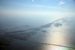 God-like View of Long Island. View of a portion of Long Island during an approach to JFK Stock Photo