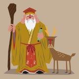 God of longevity. (one of Seven Lucky Japanese Gods Stock Photo