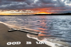 God is Love Cross River Stock Photography