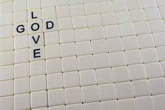 God/Love Crossword Royalty Free Stock Images
