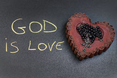 God is love inscription Stock Photo