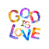 God is love. Vector inscription Royalty Free Stock Photo