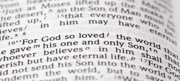 God So Loved the Word That He Gave His One and Only Son. For God So Loved the Word That He Gave His One and Only Son royalty free stock image