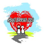 God loves me royalty free illustration