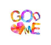 God loves me. Vector triangular letters Stock Images
