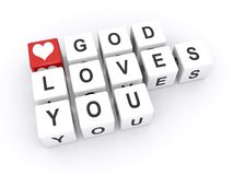 God loves you  Stock Photos