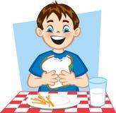 god lunch Arkivbilder