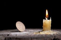 god lycka för stearinljus arkivbilder