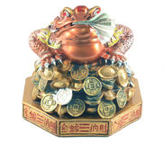God money. The three toad is Chinese's god.His mean rich,if you had the three toad in your home it mean you will get more money Royalty Free Stock Photography