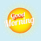God morgon Fotografering för Bildbyråer