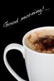 god morgon för cappuccino Royaltyfri Fotografi
