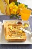 god morgonrostat bröd Royaltyfria Bilder