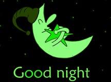 god natt royaltyfri illustrationer