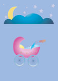 god natt för vagga vektor illustrationer