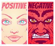 god ondska royaltyfri illustrationer