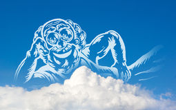 God op wolken royalty-vrije illustratie