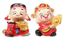 God of Prosperity Figurines. On White Background stock images