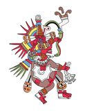 God Quetzalcoatl, the feathered serpent Stock Photo