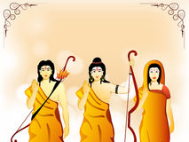 God Rama, Laxman and Goddess Sita for Dussehra. Stock Photography