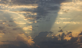 God Rays. Emanating from behind a cloud in Brooklyn Park, Minnesota Royalty Free Stock Photos