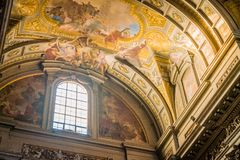 God revelation in a church. Sant Ignazio Church painted ceilings by painter Andrea Pozzo in Rome Stock Photos