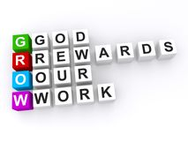 God rewards our work acronym Royalty Free Stock Image