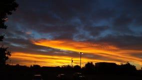 GOD'S BEAUTY. Oklahoma City Sunrise royalty free stock photography