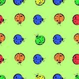 God s cow seamless pattern children s illustration Stock Photo