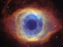 God's Eye (Helix Nebula). The Helix Nebula, nick named God's Eye, with a real eye in it Stock Photography