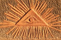Free God`s Eye - Old Relief Stock Image - 141537281
