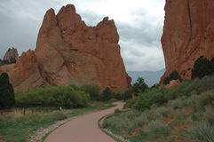 God's Garden. Garden of the Gods in Colorado. Love the soft hues creating a serene landscape Royalty Free Stock Image