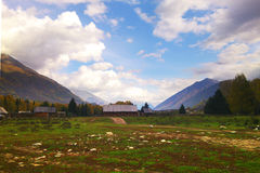 God's private plots Wo Xinjiang Hemu scenery Royalty Free Stock Photos