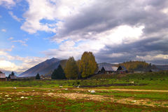 God's private plots Wo Xinjiang Hemu scenery Stock Image