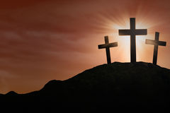 God's salvation on the Cross Royalty Free Stock Images
