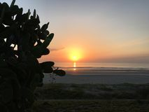 God's sunrise2. Sunrise ponce Inlet Florida stock photo
