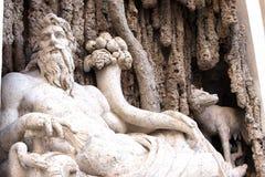 God sculpture Rome Italy Royalty Free Stock Photo