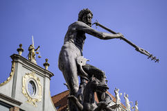 God of sea. Neptune's statue. Royalty Free Stock Photo