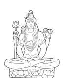 God Shiva stock illustration