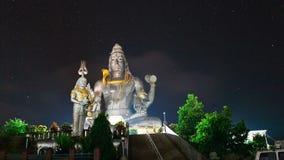 God Shiva in Murudeshwar timelapse at night stock video footage