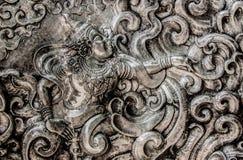 God on silverware. Thailand literature god on silverware at Shisupan temple walls Royalty Free Stock Image