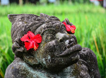 God statue at the Elephant temple in Bali island, Indonesia Stock Image