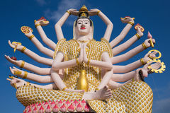 God statue Guan Yin , Island Koh Samui in Thailand Royalty Free Stock Images