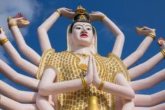 God statue Guan Yin , Island Koh Samui in Thailand Stock Image